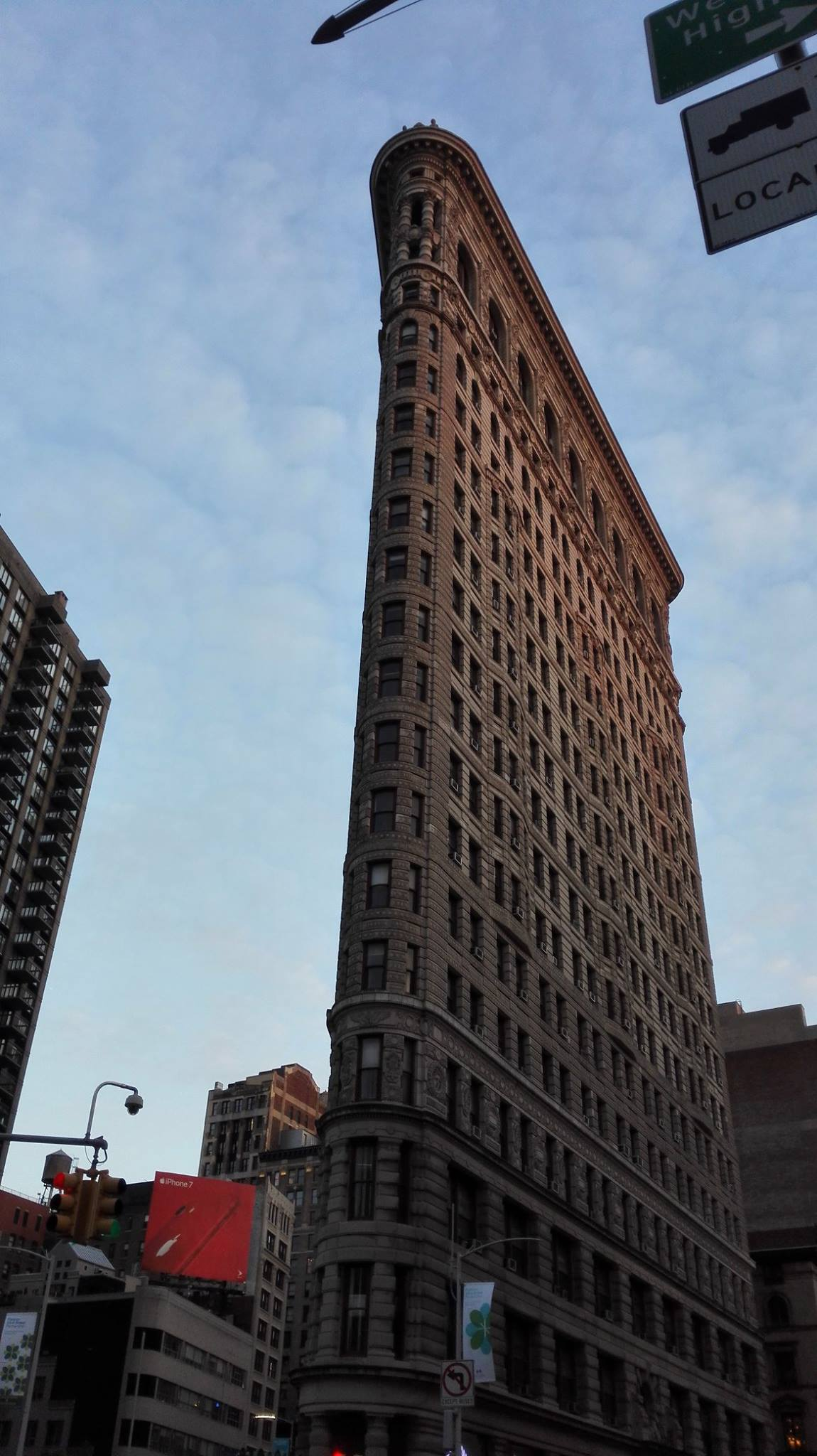 The 22-story Flatiron building